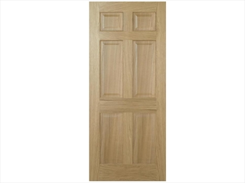Regency 6 Panel Oak Door (Metric)