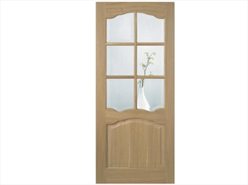 Riviera Glazed 6L Oak Door (Imperial)