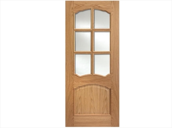 Riviera Glazed 6L RM2S Oak Door (Imperial)