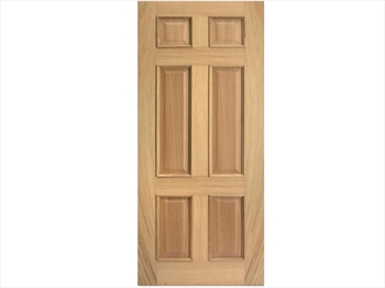 Regency 6 Panel RM2S White Oak Door (Imperial)