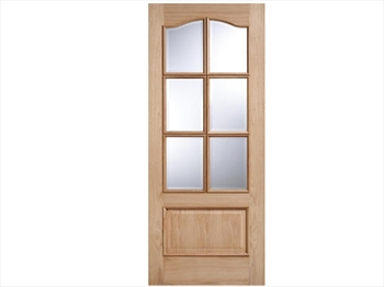 Kent Glazed 6L RM2S White Oak Door (Metric)