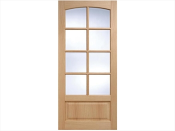 Worthing Glazed 8L White Oak Door (Imperial)