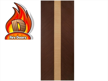 Cava Wenge With Oak Inset Flush Fire Door (Imperial)