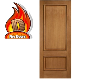 Asturias 2 Panel Oak Fire Door (Imperial)