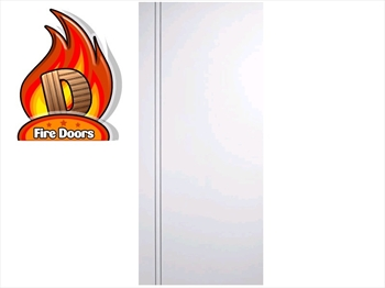 Sierro Blanco White Flush Fire Door (Metric)
