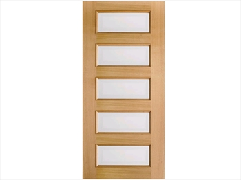 Oak Moulded 5L Door (Imperial)