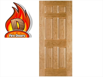 Oak Moulded 6 Panel Fire Door (Imperial)