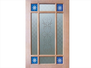 Blue 9 Piece Glass Pack For Downham Doors