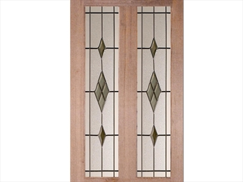 Smoked ABE Lead - Glass Pack For Malton Door