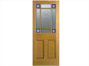 Downham Unglazed Oak Door (Imperial)