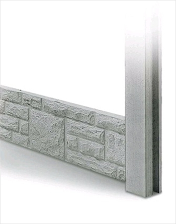 Rock Faced Concrete Gravel Boards 300mm (Pack of 15)