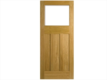 Unglazed DX 30's Style Oak Door (Imperial)