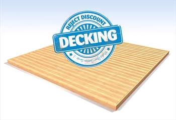 Reject Discount Decking Kit 2.4m x 2.4m (No Handrails)