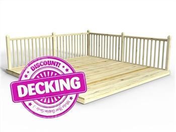 Reject Discount Decking Kit 1.5m x 1.5m (With Handrail)