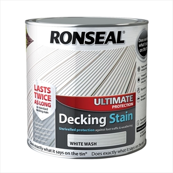 Ronseal Ultimate Protection Decking Stain 2.5L (White Wash)