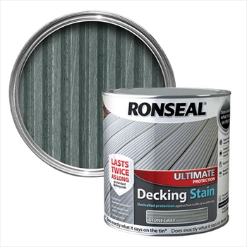 Ronseal Ultimate Protection Decking Stain 2.5L (Stone Grey)