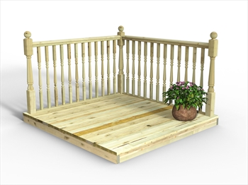 Chunky Easy Deck Kit 1.8m x 1.8m (With Handrails)