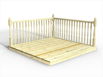 Chunky Easy Deck Kit 2.4m x 2.4m (With Handrails)