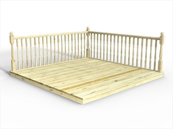 * Chunky Easy Deck Kit 3m x 3m (With Handrails)