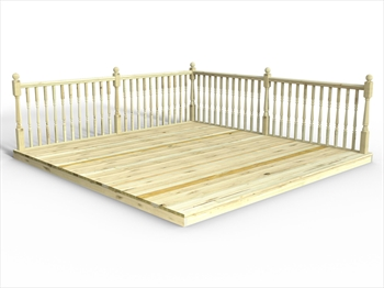 * Chunky Easy Deck Kit 3.6m x 3.6m (With Handrails)