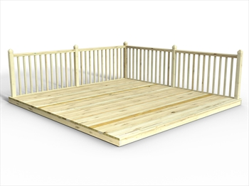* Chunky Easy Deck Kit 4.2m x 4.2m (With Handrails)