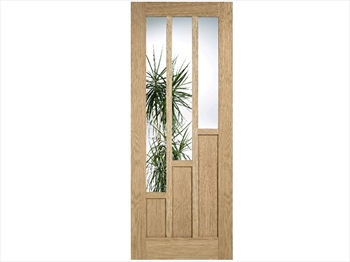 Coventry 6 Panel Glazed Oak Door (Imperial)
