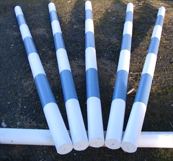 Blue / White Painted Timber Jump Pole (100mm)
