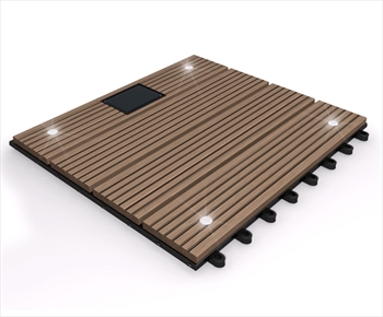eDecks Composite Deck Tile With LED's (Oak)
