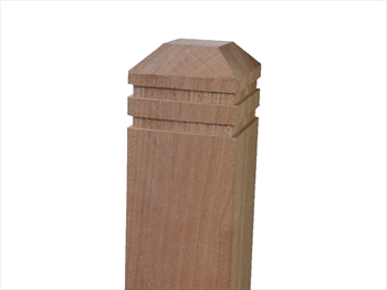 Square Hardwood Balau 90mm Deck Newel (1195mm)