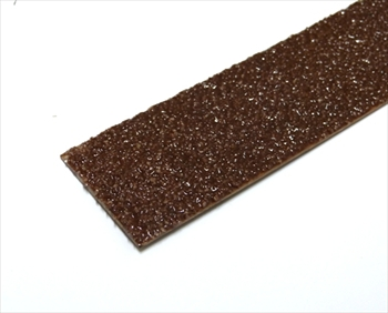 50mm DARK BROWN Anti Slip Decking Strip - Fixings Inc