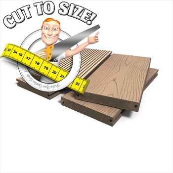 * Cut to size * Oak Solid Bark Effect Composite Decking (146mm x 21mm)