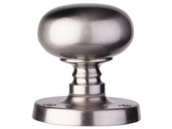 Brushed nickel mortice knobs