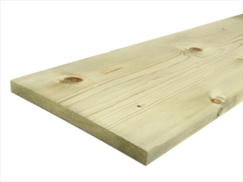 Treated Planed Square Edge Timber (225mm x 25mm)