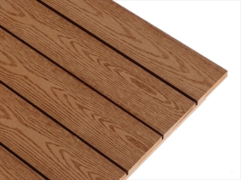 Easy Fit Bark Effect Composite Deck Tile (500mm x 500mm)