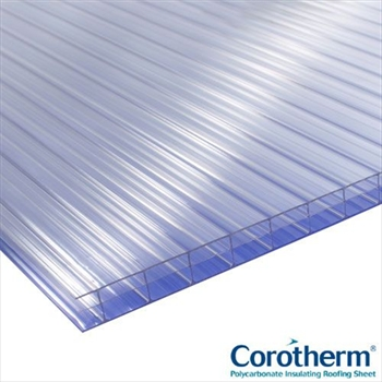 Clear Multiwall Polycarbonate 16mm (3500mm x 1050mm)