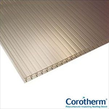 Bronze Multiwall Polycarbonate 16mm (2500mm x 2100mm)