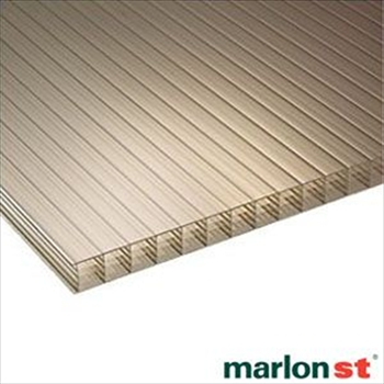 Bronze Multiwall Polycarbonate 25mm (2500mm x 1050mm)