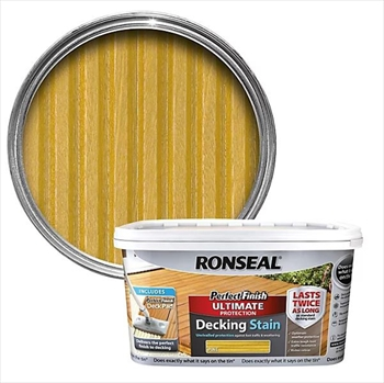 Ronseal Perfect Finish Ultimate Protection Decking Stain 2.5 Litre (Natural Pine)