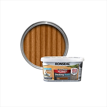 Ronseal Perfect Finish Ultimate Protection Decking Stain 2.5 Litre (Rich Teak)