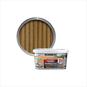 Ronseal Perfect Finish Ultimate Protection Decking Stain 2.5 Litre (Dark Oak)