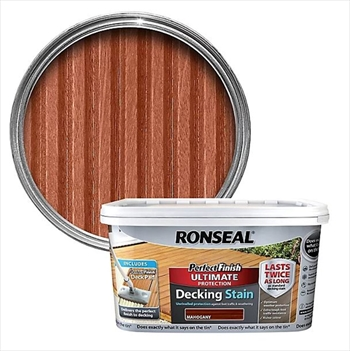 Ronseal Perfect Finish Ultimate Protection Decking Stain 2.5 Litre (Mahogany)