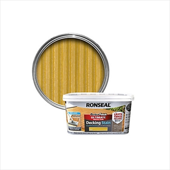 Ronseal Perfect Finish Ultimate Protection Decking Oil 2.5 Litre (Natural Pine)
