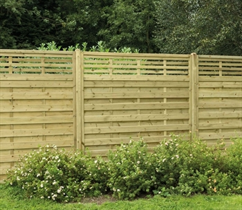 Elite Slatted Top Fence Panel (1.8m x 1.8m)