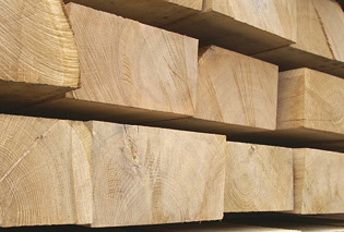 Fresh Cut Oak Sleepers 200mm x 100mm x 2400mm