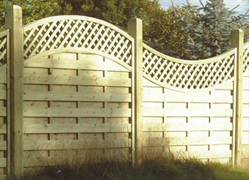 Concave Lattice Top Fence Panel (1.57m x 1.8m)