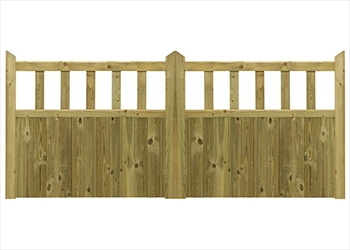 Hampton Softwood Courtyard Gate (3ft 6 x 3ft 6)