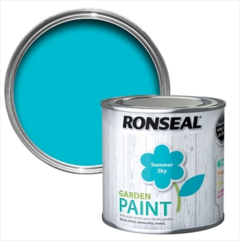 Ronseal Garden Paint 250ml (Summer Sky)