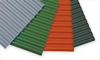 Green - PALTOP Corrugated Foam PVC Box Profile Sheet (2000mm x 900mm)