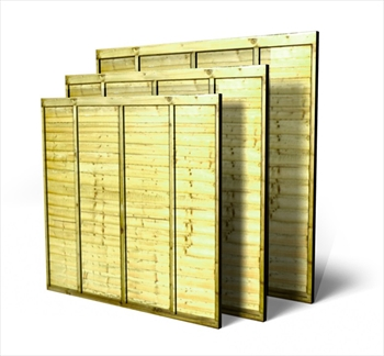 Green Overlap Fence Panels (Made to Measure)
