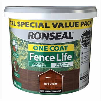 Ronseal One Coat Fence Life 9 Litre (Red Cedar) + 33% Extra Free